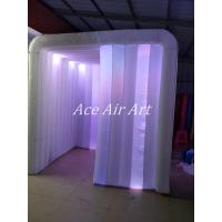Cheap Ace Air Art new style white fabric led lighting inflatable photo booth enclosure for sale