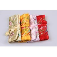 Quality Beautiful Embroidery Jewelry Bundle Type Travel Organizer Bag of Bright Silk wholesale