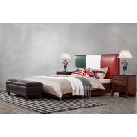 Cheap Leather Upholstered Headboard Custom Bed in hotel Guestroom king and queen size bedroom Wooden bed in High quality for sale