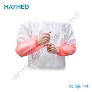China 0.04mm Medical Elastic Disposable PE Sleeve Cover 48*22cm on sale