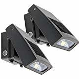 China Adjustable LED Wall Pack Lights With Photocell 12W - 90W Black Body DLC ETL Listed on sale