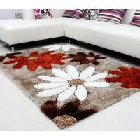 Quality Home Decoration and HotelHand Made Tufted 100% Polyester Chinese Knot Add Silk Shaggy Carpet wholesale
