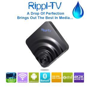 Quality Android Full HD TV Box 100% Original Rippl-TV Android 4.4 Android TV Box Internet TV Set Top box wholesale