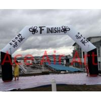 Quality custom 8m x 4m back legs and white crossbeam inflatable finish line wholesale