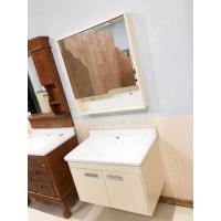 Cheap 5mm Silver Glass Mirror Simple  Bathroom Wall Hanging Cabinets With Ceramic Basin for sale