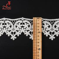 Quality 100% Cotton Water Soluble Flower Lace Trim For Clothing Pollution - Free wholesale