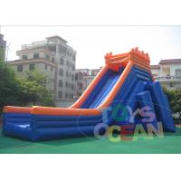 Quality 50M Giant Outdoor Inflatable Slides Hippo Security  Waterproof For Beach wholesale
