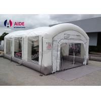 Cheap Customized Size Mobile Paint Booth , Automatic Inflatable Car Spray Booth With 2 Blower for sale