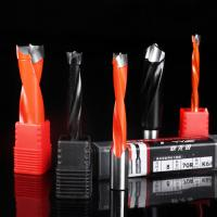 China Tungsten Carbide Drill Bits With Brad Point High Wear Resistance Paint Coating on sale