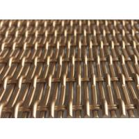 China Copper Color Facade Fabric Architectural Wire Mesh Made In Aluminum Flat Wire on sale