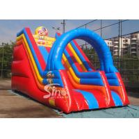 Quality Popular children happy clown inflatable slide with arch full digitally printed wholesale