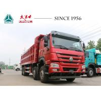 Quality HOWO Tipper 6x4 Sinotruk Dump Truck , Dump Tractor Trailer 12 Wheeler For Quarry wholesale