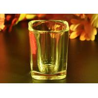 Cheap FDA Passed Tall Shot Glass Liquor Cup , Glass Whiskey Tumblers for sale