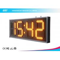 China Yellow 10 Led Clock Display Digital Clock Timer For Sport Stadium on sale