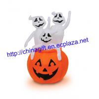 China Pumpkin with 3 Ghosts Light-Up Airblown Inflatable Decoration on sale