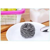 Quality Oil Removing Metal Scouring Ball Antibacterial For Restaurant Washing Pots wholesale