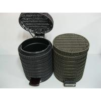 Quality Round Rattan Waste Baskets with Lids wholesale