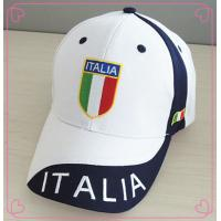 Quality Flat Embroidering Logo White Baseball Cap , Blue Eyelets Buckle Closure Summer Baseball Hats wholesale