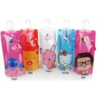China Foldable Spouted Pouches Packaging , Water Bottle Liquid Bags With Spout on sale