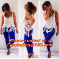 China women lace crop top/deep v neck halter top/spaghetti strap tank tops/lace colete croche/wh on sale