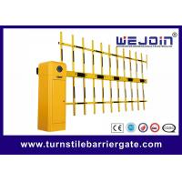 Buy cheap Iron Housing Road Traffic Barriers With Sign Warning Light Orange Color from wholesalers