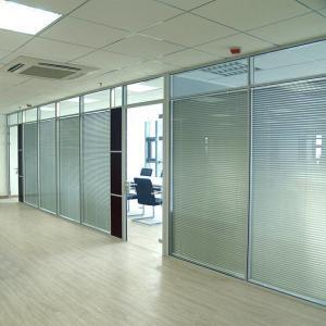 Quality Wall Curtain / Office Aluminium Glass Office Partition , Aluminum Wall Partition wholesale