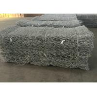 Hot Dipped Galvanized Gabion Wire Mesh / Stone Cage Wire Mesh Customized
