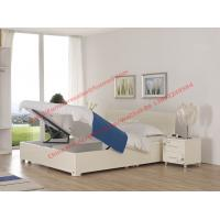 Quality Pure White painting bedroom furniture set by storage bedstead in fashion Apartment design from italy wholesale