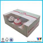 Quality Disposable Individual Cake Boxes Logo Printed Matt Oil Matt Lamination wholesale