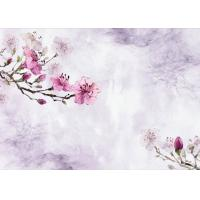 Quality Plum Flower Pattern 3D Bamboo Wall Panels , TV Background Fiber Wall Panels wholesale