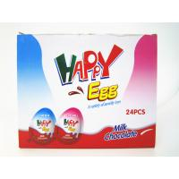 Quality Milk And Chocolate Chips Cookies Flavor Happy Egg In Box With a Lovely Toy wholesale