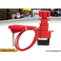 China Multi Purpose Red Valve Lock Out Industrial Steel Nylon Material on sale