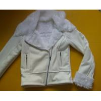 Quality 100 Polyester Bomber Jacket , Suede And Fur Joint Ladies Hooded Jacket wholesale