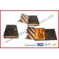 Leather Rigid Gift Boxes For Luxury Gift Packing , Embossed Foldable