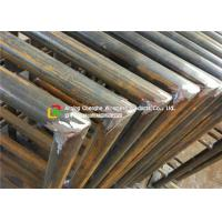 Quality 48 X 3mm Carbon Steel Metal Safety Fencing , Building Steel Security Fencing wholesale