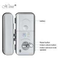 China IP68 Waterproof 1.7 Touch Screen Fingerprint Lock 0.5S XM-W on sale