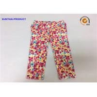 Quality Chrysanthemum Water Ink Baby Girl Printed Leggings With 95% Cotton 5% Spandex wholesale