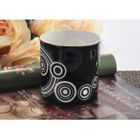 Quality Balck backage white circle Ceramic Candle Holder , cylinder round ceramic candle jars wholesale