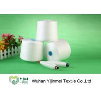 Cheap High Tenacity 100 Polyester Spun Yarn , Dyed Polyester YarnOn Plastic Cylinder Cone for sale