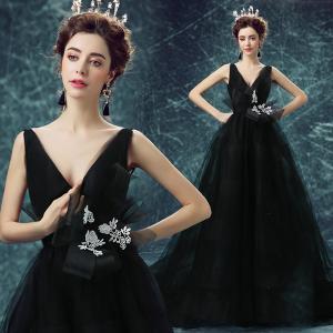 China Sexy Deep V Neck Backless White Flower Sashes Gorgeous Evening Dress TSJY107 on sale