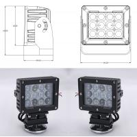Quality 60W Square Vehicle LED High Power Driving Lights , 6500K 4800 Lumen 12 Volt Led Work Lights wholesale