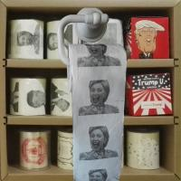 Quality Hillary clinton printed toilet paper 3 layer 200 sheets 100% wood virgin pulp tissue paper wholesale