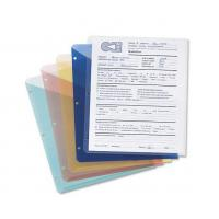 Quality Poly Translucent Slash File Jacket, Three-Hole Punched, Letter Size, Assorted Colors, 5 p wholesale