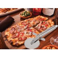 Quality Custom SS304 Stainless Steel Kitchen Tools Pizza Cutter With PP Wooden Handle wholesale