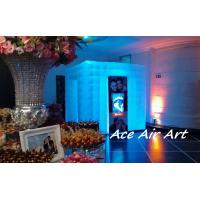 Quality custom wedding inflatable photo booth with led,wedding photo enclosure for sale wholesale