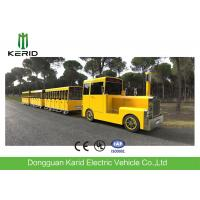 Quality Gasoline Power 62 Seats Mini Trackless Train , Ride On Tourist Train For Attractions wholesale