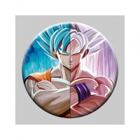 Quality Round 5x5cm 3D Flip Lenticular Anime Pins With Goku wholesale