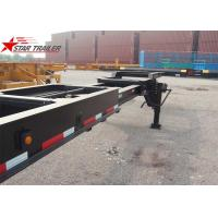 Quality 8 Tires Black Color 20 Ft Skeletal Trailers Goosneck Container Semi Trailer wholesale
