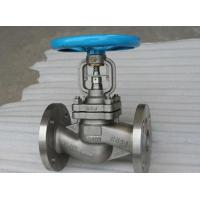 DIN Straight Pattern Flanged Cast Steel Globe Valve Metal Seat PN40 With Dual Seal 1.4308
