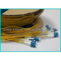 Quality 0.9MM LC Duplex Round Ribbon Fiber Cable Single Mode Pre Terminated wholesale